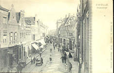 6567 PBKR0673 De Diezerstraat gezien in de richting van het Provinciehuis, enigszins van boven genomen, ca. 1901-1904. ...