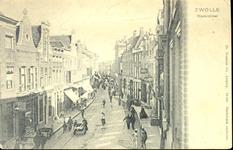6593 PBKR0699 De Diezerstraat gezien in de richting van het provinciehuis, vanuit een hoog standpunt genomen, ca. 1900. ...