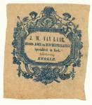 121 -TP001040 Reclameuiting van Bakkerij van Laar.