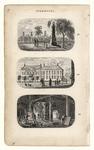 503 -TP000113 Drie afbeeldingen op één blad: 43 Grafmonument van dichter Rhijnvis Feith (1753-1824) op de Algemene ...