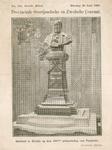 569 -TP000147 Portretbuste van E.J. Potgieter (1808-1878), op sokkel., Potgietersingel. Beeld onthuld op de honederdste ...