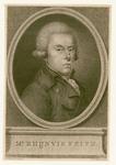 583 -TP000161 Portret van Rhijnvis Feith (1753-1824), borstbeeld naar rechts, in ovaal; voetstuk met inscriptie Mr. ...