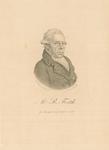 586 -TP000164 Portret van de dichter Rhijnvis Feith (1753-1824), borstbeeld naar rechts gericht. Op de achterzijde ...