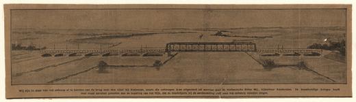 876 -TP000314 Niet uitgevoerd ontwerp van de spoorbrug over de IJssel bij het Katerveer te Zwolle, afgedrukt in Het ...