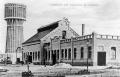 6411 Gezicht op de gasfabriek aan het Hooglandse Jaagpad te IJsselstein, met links op de achtergrond de watertoren.N.B. ...