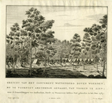 206178 Gezicht op het kampement Woudenberg boven Woerden waar in 1787 de vrijcorpsen van Amsterdam, Dordrecht en ...