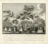 206179 Gezicht op het kampement Woudenberg boven Woerden waar in 1787 de vrijcorpsen van Amsterdam, Dordrecht en ...