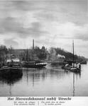 64055 Gezicht op het Merwedekanaal te Utrecht; met op de achtergrond de Rijksmunt vanuit het noordwesten