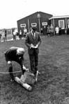 91112 Afbeelding van de officiële opening van de gebouwen van de scoutinggroepen van Vleuten en De Meern aan de ...