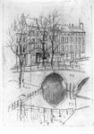 35903 Gezicht over de Oudegracht te Utrecht op de Vollersbrug en daarachter de voorgevels van de huizen aan de ...
