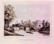 30982 Gezicht vanaf de Catharijnesingel te Utrecht over de stadsbuitengracht met de Willemsbrug en rechts het hoekhuis ...