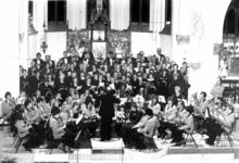 91731 Afbeelding van de opvoering van het jubileumconcert van de Christelijke Harmonie Vleuten in de ...