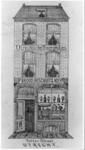 38128 Afbeelding van de voorgevel van de bakkerij van J.F. Lijsen (Potterstraat 23) te Utrecht.