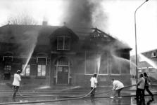 90614 Gezicht op de voormalige Openbare Lagere School (Meerndijk 9-11) te De Meern (gemeente Vleuten-De Meern) tijdens ...