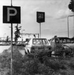 154536 Gezicht op de P+R-parkeerplaats bij het N.S.-station Driebergen-Zeist te Driebergen-Rijsenburg.