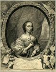 32072 Portret van Anna Maria van Schurman, geboren Keulen 5 november 1607, schrijfster en dichteres te Utrecht, ...