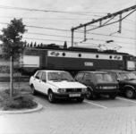 154538 Gezicht op een aantal geparkeerde auto's op de P+R-parkeerplaats bij het N.S.-station Driebergen-Zeist te ...