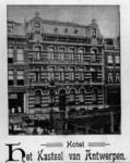 76793 Gezicht op de nieuwe voorgevel van het Hotel Het Kasteel van Antwerpen (Oudegracht Weerdzijde 50) te Utrecht.N.B. ...