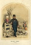 206149 Afbeelding van een man, twee vrouwen en een meisje in de klederdracht van Bunschoten.