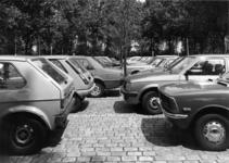 154544 Gezicht op de P+R-parkeerplaats bij het N.S.-station Den Haag Mariahoeve te Den Haag.