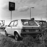 154541 Afbeelding van geparkeerde auto's op de P+R-parkeerplaats bij het N.S.-station Driebergen-Zeist te ...