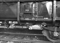163615 Afbeelding van het stortluik van de 30-tons goederenwagen (dekzeilwagen voor graanvervoer) nr. 40001 (type GRMK, ...