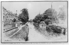 35235 Gezicht op de Stadsbuitengracht te Utrecht vanaf de Catharijnebrug naar het noorden.