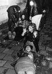 90741 Afbeelding van een rampenoefening door de brandweerkorpsen Vleuten, De Meern, Maarssen, Harmelen en Douwe Egberts ...