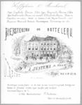38202 Gezicht op de voorgevels van het koffiehuis en het bierhuis van de firma A. Justema & Zoon (Neude H 435/436) te ...
