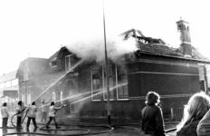 90613 Gezicht op de voormalige Openbare Lagere School (Meerndijk 9-11) te De Meern (gemeente Vleuten-De Meern) tijdens ...