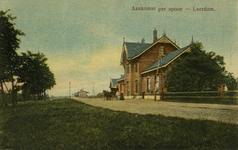 165227 Gezicht op het H.S.M.-station Leerdam te Leerdam.