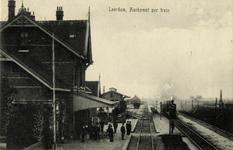 165228 Gezicht op het H.S.M.-station Leerdam te Leerdam.