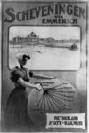 167081 Afbeelding van een affiche van de N.S. voor treinverbindingen vanuit diverse Europese steden naar Scheveningen, ...