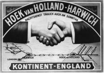 167087 Afbeelding van een affiche van de S.M.Z. (Stoomvaart-Maatschappij Zeeland) voor de dagelijkse bootverbinding ...