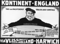 167090 Afbeelding van een duitstalig affiche voor de bootverbindingen van de S.M.Z. (Stoomvaart-Maatschappij Zeeland) ...