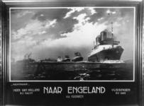 167093 Afbeelding van een affiche van de S.M.Z. (Stoomvaart-Maatschappij Zeeland) met de nachtparade van de schepen van ...