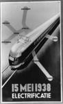 167094 Afbeelding van het door E. Gaillard ontworpen affiche van de N.S. naar aanleiding van de electrificatie van het ...