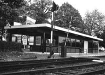 165527 Gezicht op het nieuwe N.S.-station Didam te Didam, op de dag van de opening van het gebouw.