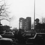 600464 Gezicht op het restant van het complex van de Jaarbeurs (Vredenburg) te Utrecht, tijdens de sloop.