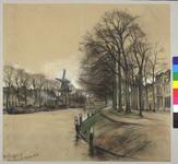 28319 Gezicht op de Weerdsingel Westzijde te Utrecht uit het oosten, met links de Nieuwekade, rechts de huizen aan de ...