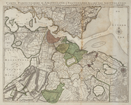 3; Particuliere kaart van Amstelland, stadsbezit Weesp kaart van Covens en Mortier