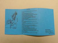 86 Kaartje met uitleg over raku-keramiek