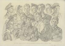 1056 Groepsportret van de bewakers van strafgevangenis Fort Benoorden Purmerend