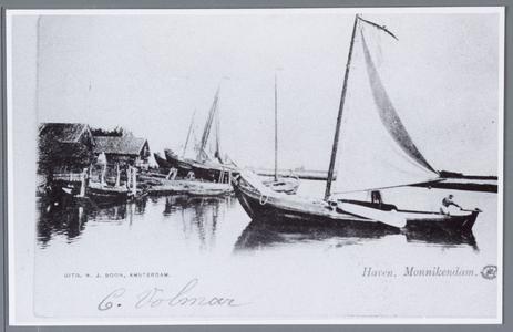 WAT001002189 Foto van een deel van de haven van Monnickendam