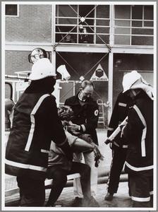 WAT001014354 Openings oefening oefengebouw.Brandweer oefengebouw Waterland'achter de kazerne, waarin sinds l februari ...