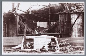 WAT002001801 Boerderij van klaas de Leeuw, verbrand op zaterdag 2 november 1940.
