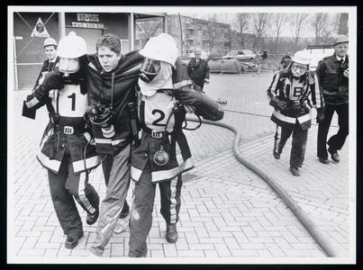 WAT003006577 Provinciale brandweerwedstrijden, die zaterdag in Purmerend ophet terrein van de Purmerendse Brandweer zyn ...