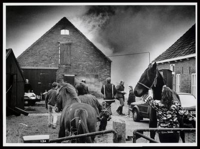 WAT003006585 Spelende kinderen hebben gistermiddag een brand veroorzaakt in de schuur van familie Olij aan de Jaagweg. ...