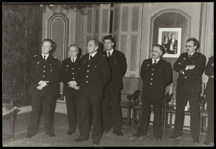 WAT050000849 Afscheid van brandweercommandant J. Haring. Op de foto leden van de brandweer