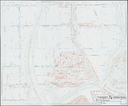 KA2_00016 Plattegrond van Zuidoostbeemster met bebouwing en huisnummers